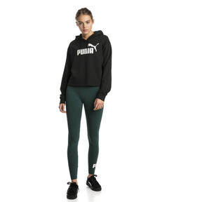 Thumbnail 3 of Essentials+ Damen Cropped Hoodie, Cotton Black, medium