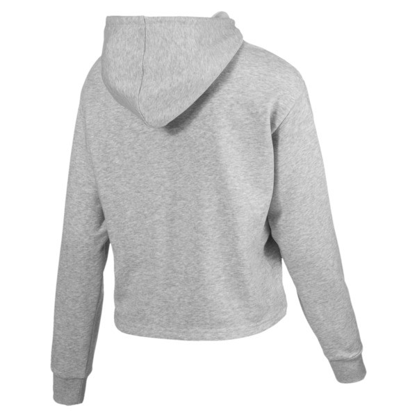 Essentials+ Women's Cropped Hoodie, Light Gray Heather, large