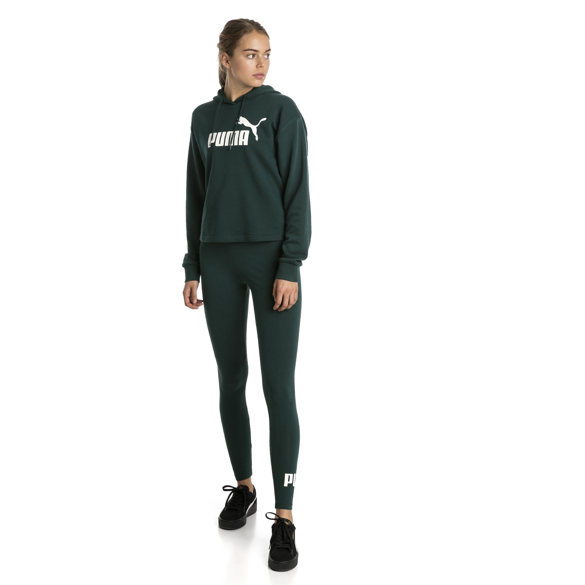 Image Puma Essentials+ Cropped Women's Hoodie #1