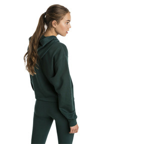 Thumbnail 2 of Essentials+ Cropped Women's Hoodie, Ponderosa Pine, medium
