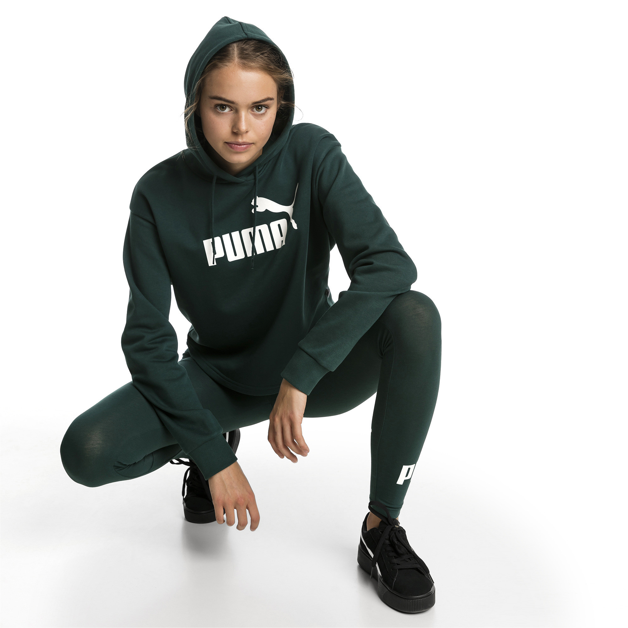 Image Puma Essentials+ Cropped Women's Hoodie #3