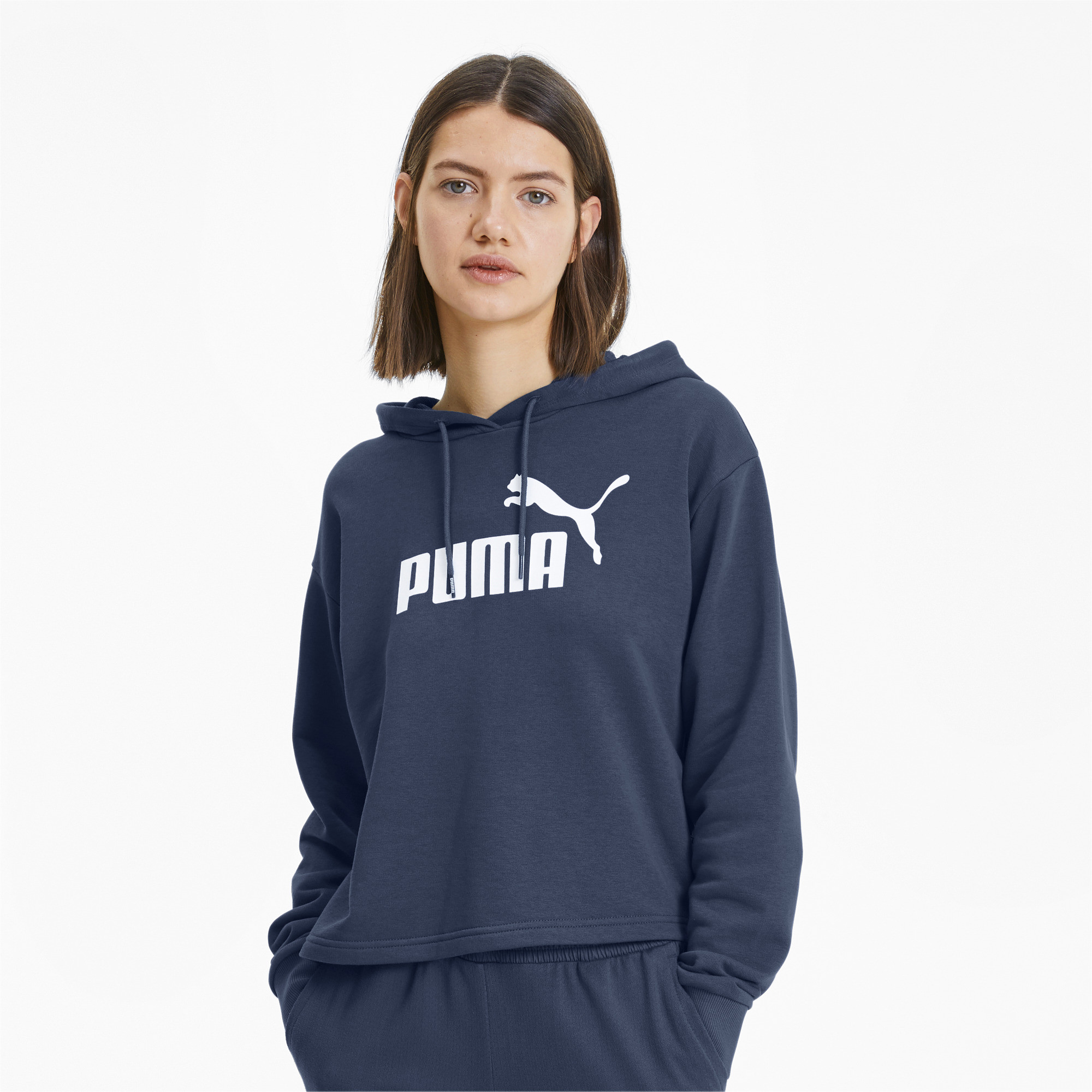 PUMA-Essentials-Women-039-s-Cropped-Hoodie-Women-Sweat-Basics thumbnail 13