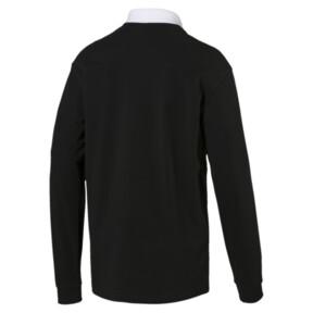Thumbnail 3 of Rebel Men's Long Sleeve Polo, Cotton Black, medium
