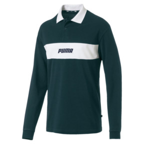 Thumbnail 1 of Rebel Men's Long Sleeve Polo, Ponderosa Pine, medium