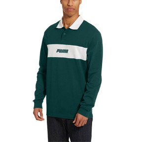 Thumbnail 2 of Rebel Men's Long Sleeve Polo, Ponderosa Pine, medium