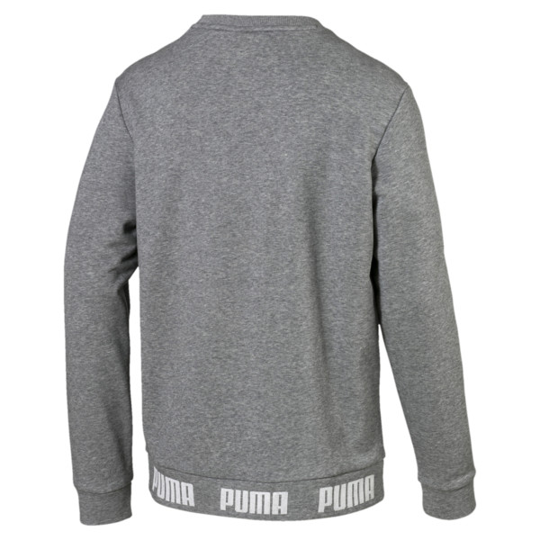 Amplified Men's Sweater, Medium Gray Heather, large