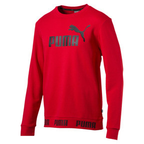 Thumbnail 1 of Amplified Crew Sweat, High Risk Red, medium