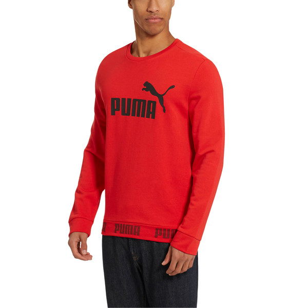 Amplified Crew Sweat, High Risk Red, large
