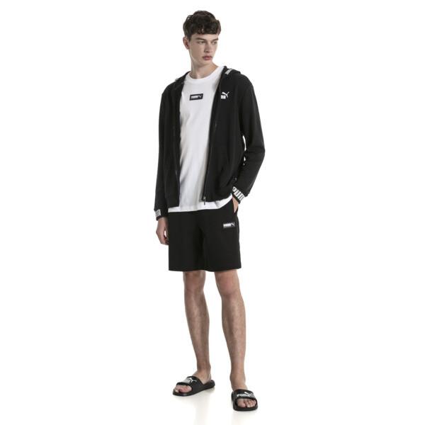 Chaqueta deportiva con capucha de hombre Amplified, Cotton Black, grande