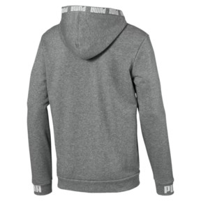 Thumbnail 5 of Amplified Hooded Men's Sweat Jacket, Medium Gray Heather, medium