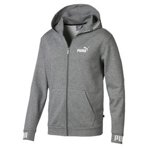 Thumbnail 4 of Amplified Hooded Men's Sweat Jacket, Medium Gray Heather, medium