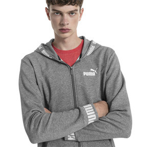 Thumbnail 1 of Amplified Hooded Men's Sweat Jacket, Medium Gray Heather, medium