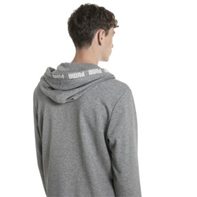 Thumbnail 2 of Amplified Hooded Men's Sweat Jacket, Medium Gray Heather, medium