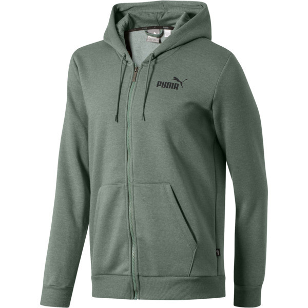 Essential + Full-Zip Hoodie, Laurel Wreath Heather, large