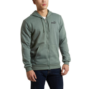 Thumbnail 2 of Essential + Full-Zip Hoodie, Laurel Wreath Heather, medium