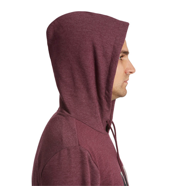 Essential Fleece Hoodie, Fig Heather, large