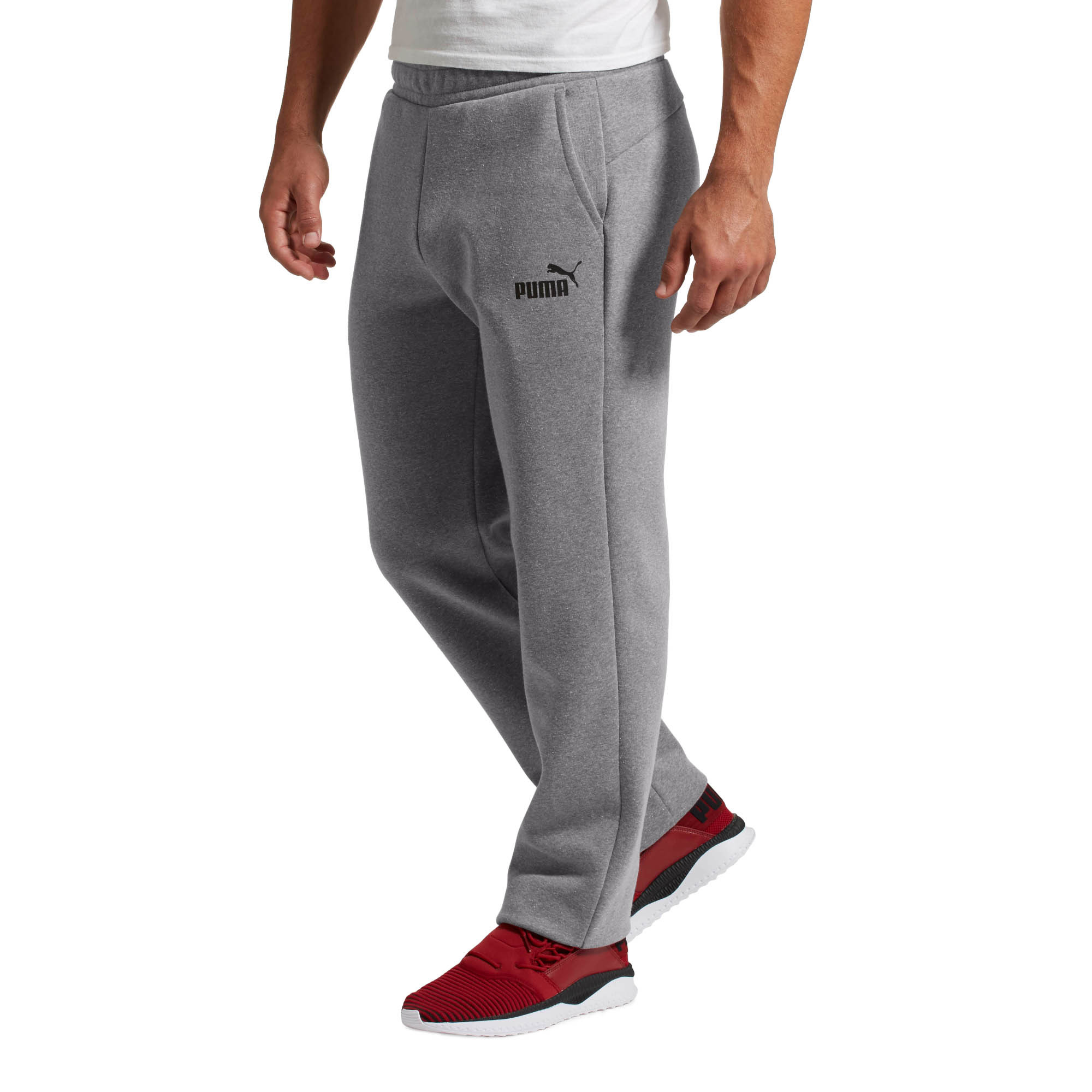 PUMA-Eseential-Logo-Full-Length-Pants-Men-Knitted-Pants-Basics thumbnail 3