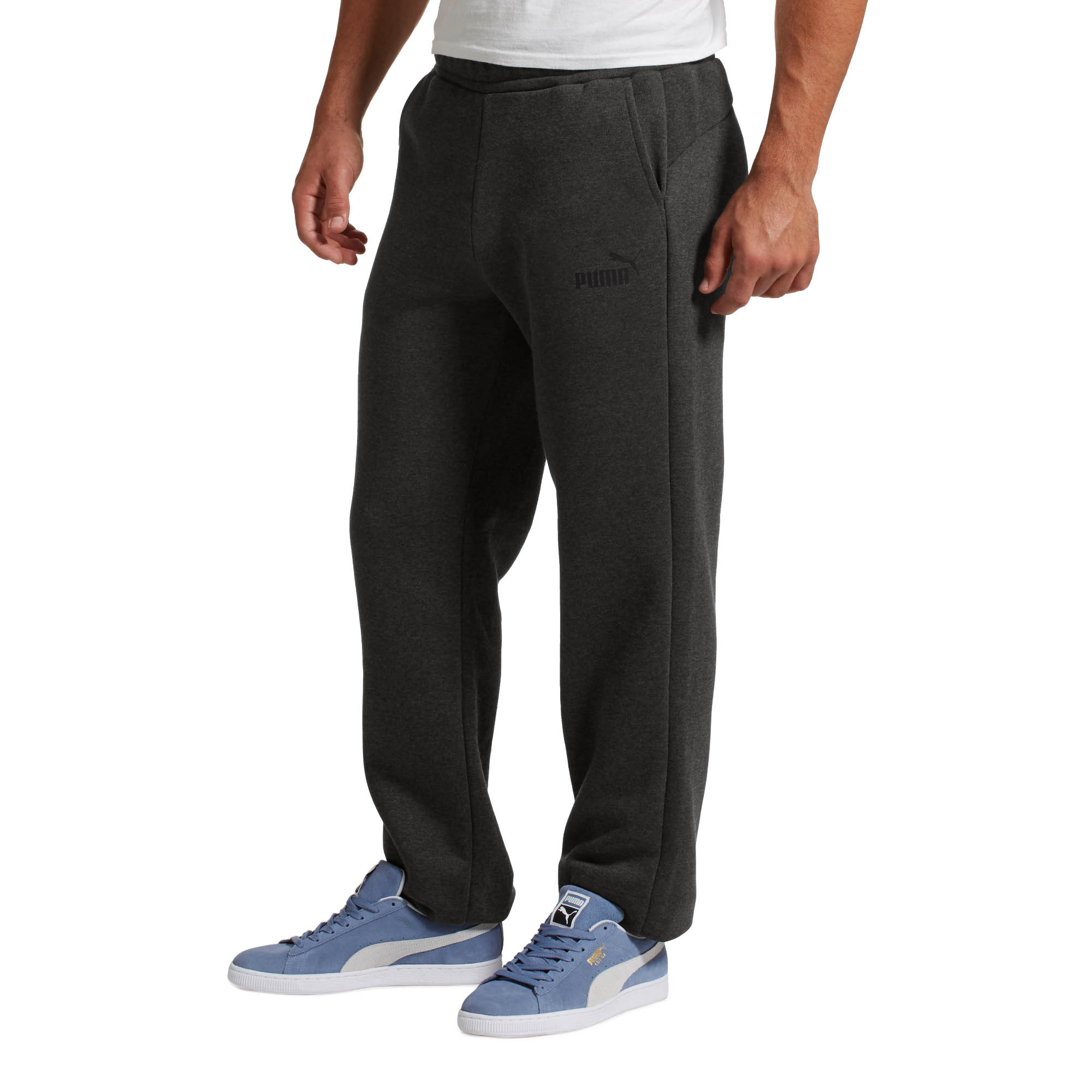 PUMA-Eseential-Logo-Full-Length-Pants-Men-Knitted-Pants-Basics thumbnail 5