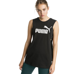 Thumbnail 1 of Essentials+ Cut Off Women's Tank Top, Cotton Black, medium