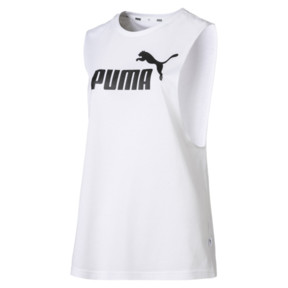 Thumbnail 4 of Essentials+ Cut Off Women's Tank Top, Puma White, medium