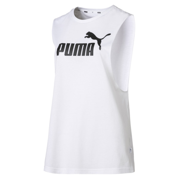 Essentials+ Cut Off Women's Tank Top, Puma White, large
