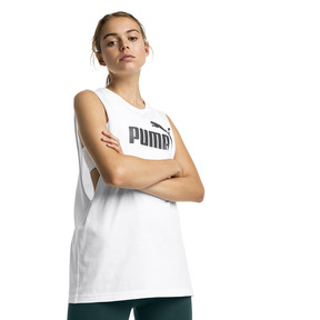 Thumbnail 1 of Essentials+ Cut Off Women's Tank Top, Puma White, medium