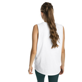 Thumbnail 2 of Essentials+ Cut Off Women's Tank Top, Puma White, medium