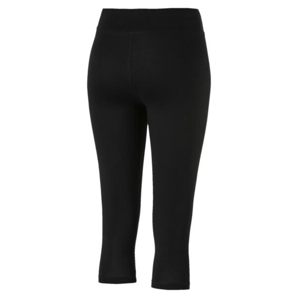 Summer Women's 3/4 Leggings, Cotton Black, large