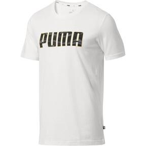Thumbnail 1 of Camo Logo T-Shirt, Puma White-Gold, medium