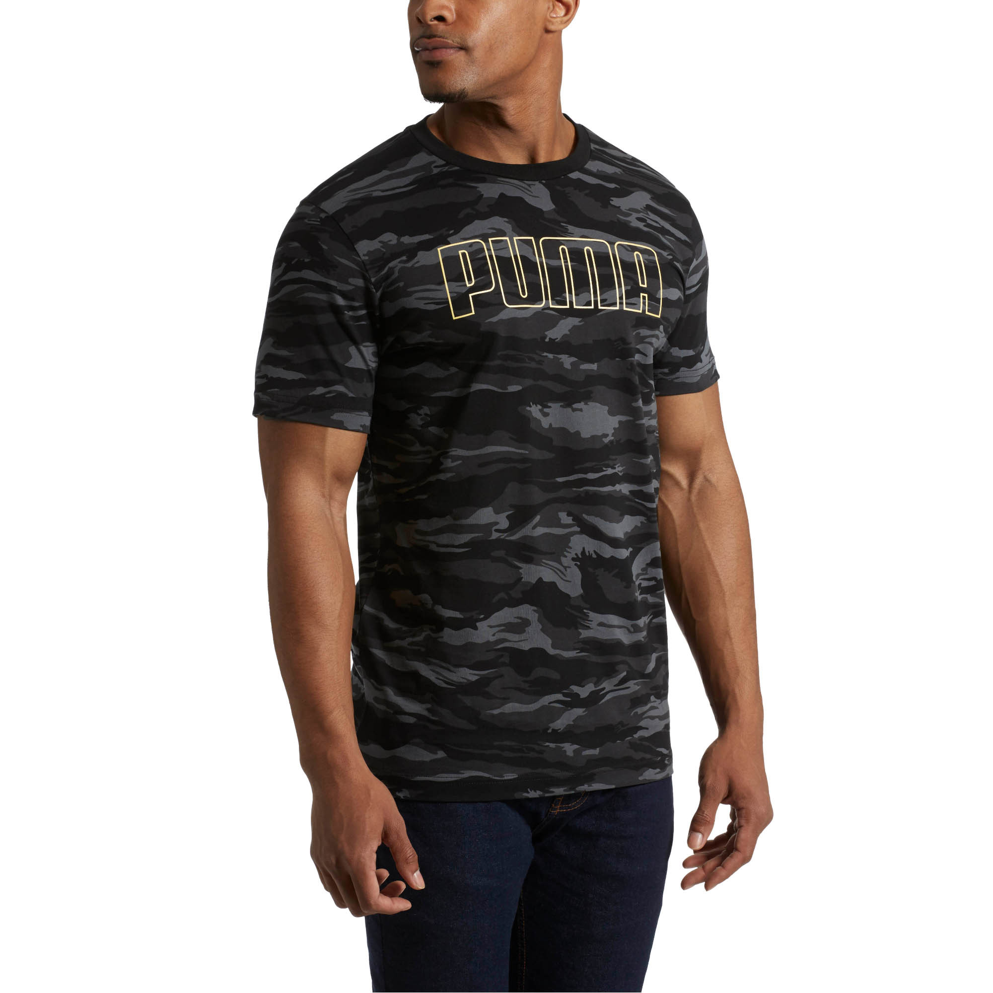 29920ab9a3 Details about PUMA Camo AOP T-Shirt Men Tee Basics