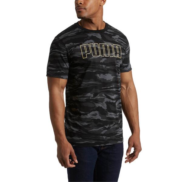 Camo AOP T-Shirt, Cotton Black-Gold, large
