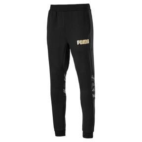 Thumbnail 1 of Men's Camo Sweatpants, Cotton Black, medium