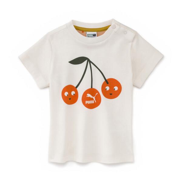 PUMA x TINYCOTTONS Baby Logo T-Shirt, Whisper White, large