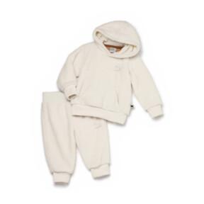 Thumbnail 1 of PUMA x TINYCOTTONS Classic Sherpa Suit, Whisper White, medium