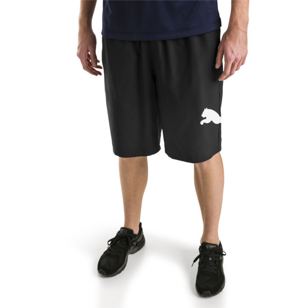 Active Tec Sports Woven Men's Shorts, Puma Black, large