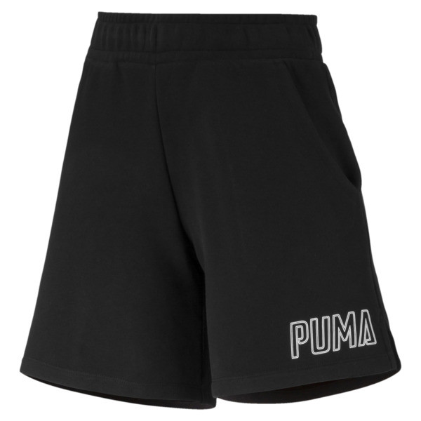 Athletics Women's Sweat Shorts, Puma Black, large