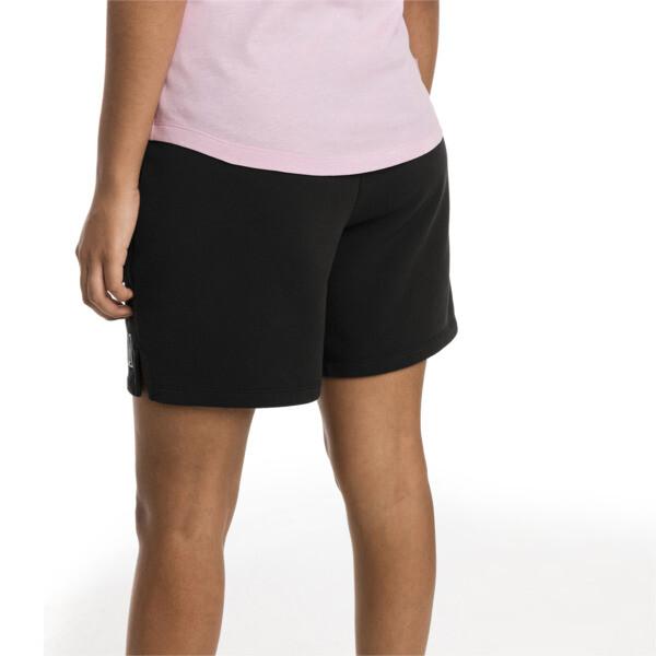 Short en sweat Athletics pour femme, Puma Black, large