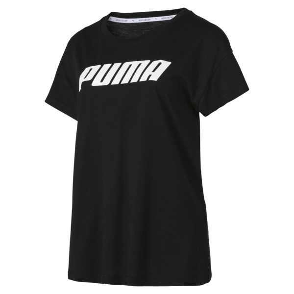 Modern Sports Tee, Cotton Black-White, large