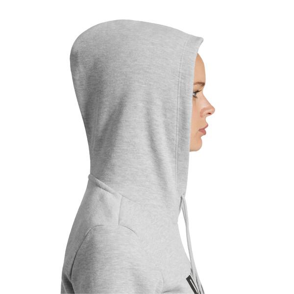 Women's Essential Logo Hoodie, Light Gray Heather, large