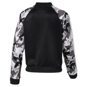 Thumbnail 2 of Classics Girls' T7 Jacket JR, Puma Black-AOP, medium