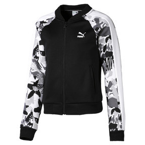 Thumbnail 1 of Classics Girls' T7 Jacket JR, Puma Black-AOP, medium