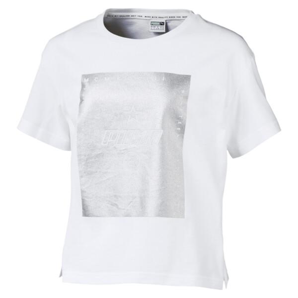 T-Shirt TZ pour fille, Puma White, large