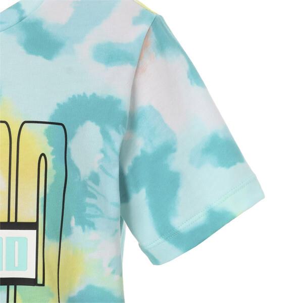 キッズ PUMA x DIAMOND Tシャツ AOP, ARUBA BLUE-AOP, large-JPN