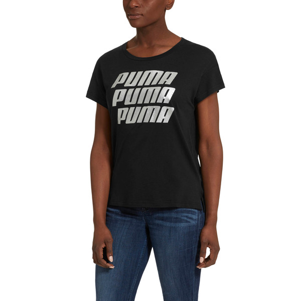 49cd4bef215 Modern Sports Graphic Tee | Cotton Black-Silver | PUMA T-Shirts ...