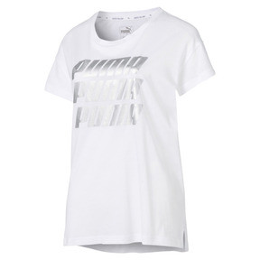 Thumbnail 2 of Modern Sports Graphic Tee, Puma White-Silver, medium