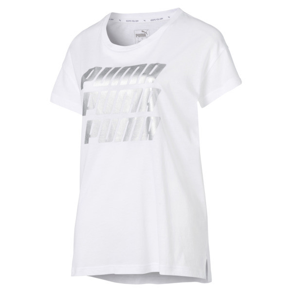 Modern Sports Graphic Tee, Puma White-Silver, large