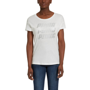Thumbnail 1 of Modern Sports Graphic Tee, Puma White-Silver, medium