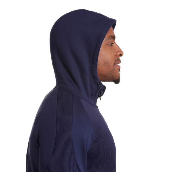 EVOstripe Hybrid Men's Hooded Jacket, Peacoat, large