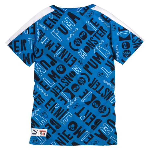 Sesame Street T-shirt voor jongens, Indigo Bunting, large