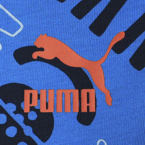 キッズ PUMA x SESAME STREET SS AOP Tシャツ B (半袖), Indigo Bunting, large-JPN